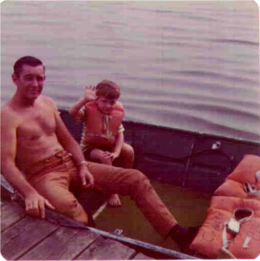 Me and my Dad. This is where my fishing career began. Thanks for all the memories Dad!! Wish you were still here with me.