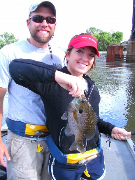 Girlfriend and I fishing for Bluegills