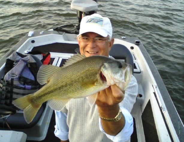 Erick M. with a nice bass? Who new he could bass fish too?