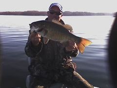 5.4Lb smallie! With BBass on a funkified worm!