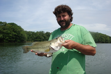 Billy's 4 1/4 lber off a ledge