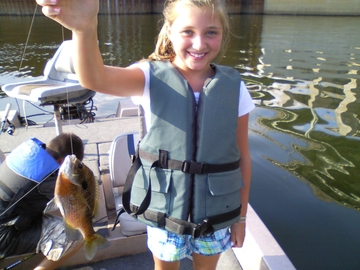 Big Bluegill Katie caught @ Chick Dam 7/12/10