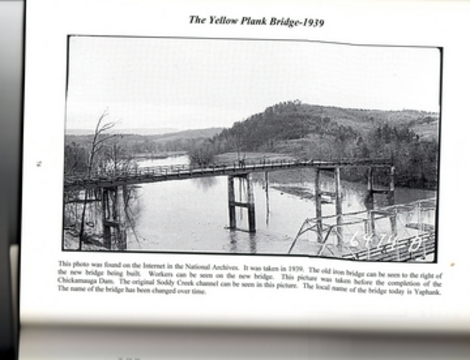 Soddy creek at yaphank bridge, my old stomping grounds. The bridge in the lower right corner is gone. This is a picture as the bridge was being built before tva flooded the land and created lake Chickamauga.
