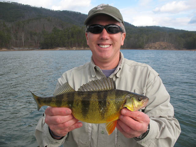Friend Jim, big yellow perch