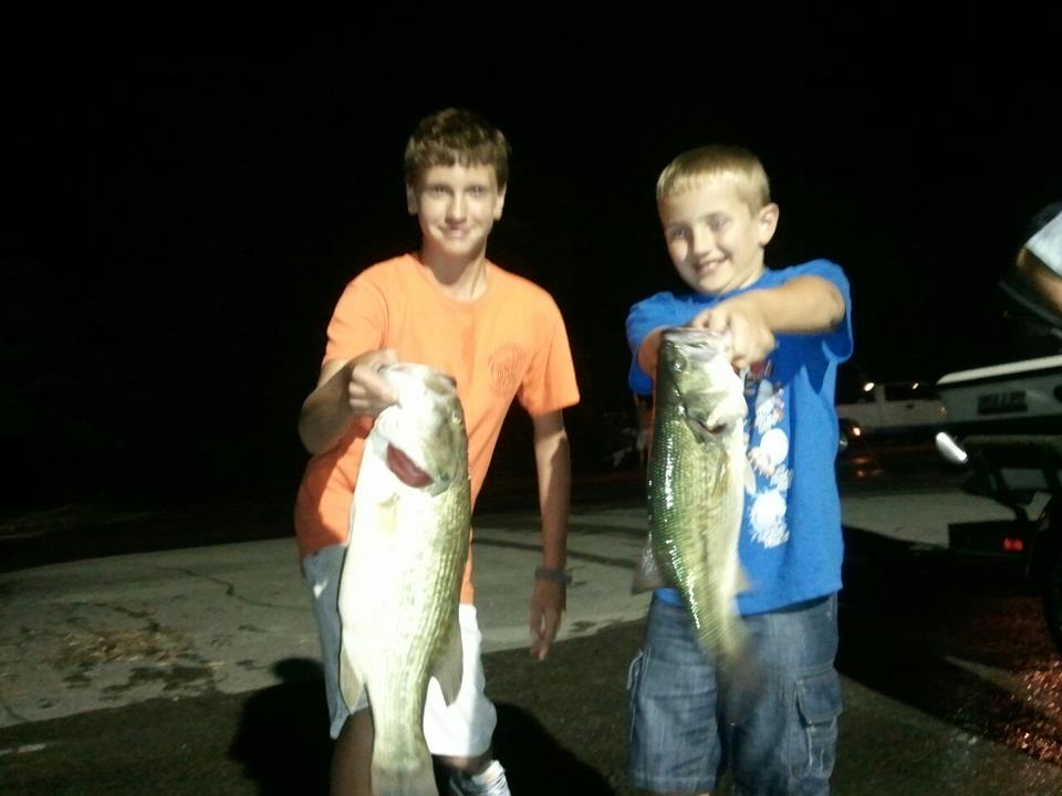 Some of their tourny fish.  Riley's 6 lber and Bryse's 3 lber.