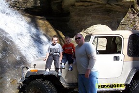 My 4 wheeling buddies. Their for climbing anything we come to.