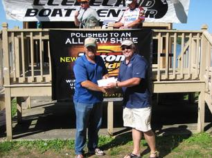 June day, 7th place checks presented at weigh in, Derek felt he looked too fat. CBA,6/2/12, 20.07 lbs..