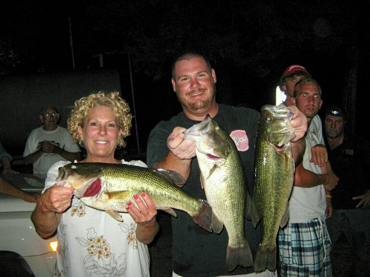 1st place with mom Harrison Bassmasters 14.5 pounds