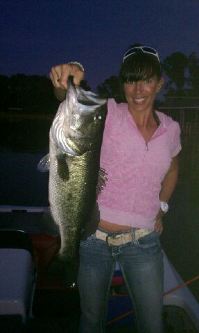 Last fish I landed in 2012 just before dark on a black homemade trick worm