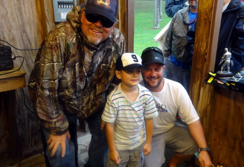Me and Derek with Tater at the Cancer Benefit Tournament, won it with 3 bass at 18.31 lbs.